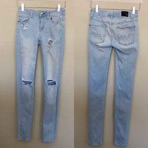 AEO - Super Stretch Distressed Jeans - Size 0